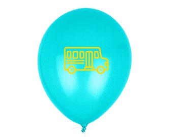 First Day of School Sign, School Bus Balloon - Printed with Pep® in the USA