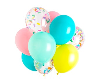 Ice Cream Balloons, Ice Cream Party Decorations, Sprinkle Balloons, Handmade with Happiness® in the USA
