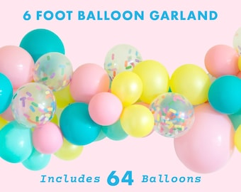Ice Cream Balloons, Ice Cream Balloon Garland, Sprinkle Balloons, Handmade with Happiness® in the USA