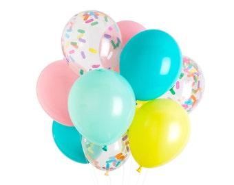 Ice Cream Balloons, Ice Cream Party, Sprinkle Balloons