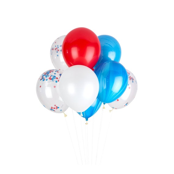 Captain America Birthday Decorations Red White Blue