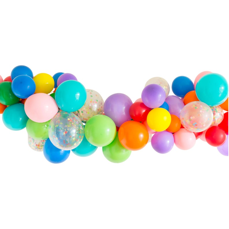 """UNICORN /& Rainbow Balloons for Birthdays Party 6 pack 9/"""" Easy Inflation"""