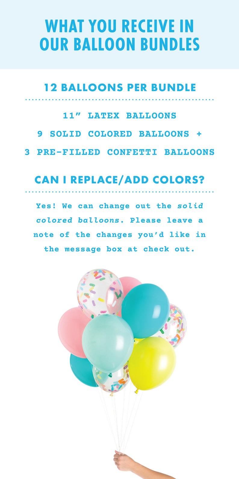 Carousel Balloons includes 3 pre-filled confetti balloons 12 Balloons