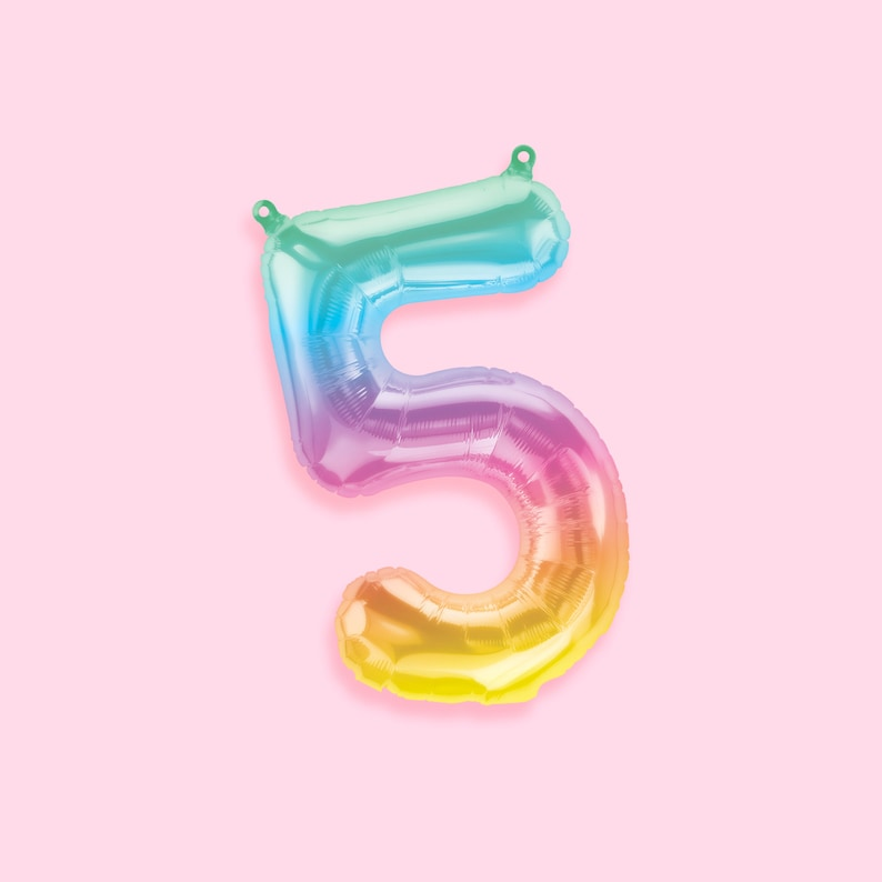 Number Balloons Ice Cream Party Balloons Rainbow Balloons image 0
