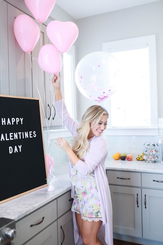 Pink Heart Balloons Valentine S Day Props Engagement Etsy