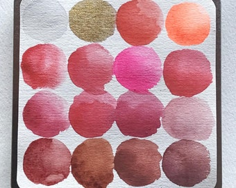 An EMA Red Watercolor Collection of Handmade Pigments