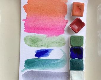 Custom Order 1/2 Pan Watercolors at 11.50 each