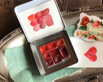 A Red Collection of Watercolors
