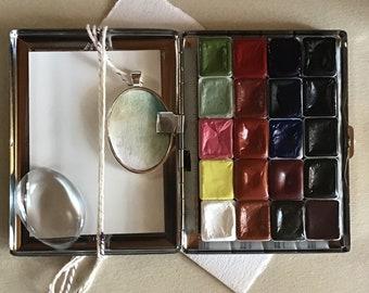A Watercolor Set of 20 Handmade Watercolors