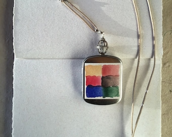 Wearable Watercolor Travel Locket