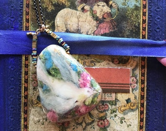Messenger of Love Painted Pendant