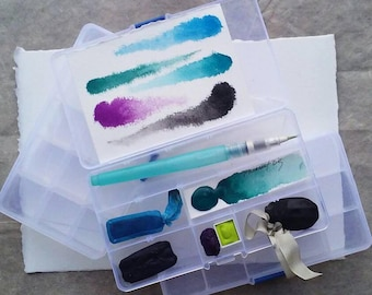 Plastic Watercolor Box Set of 3