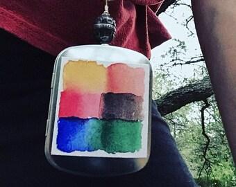 Wearable Watercolor Travel Locket