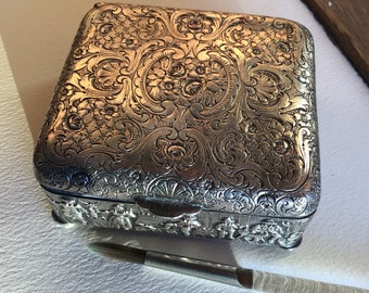 Antique Silver Watercolor Box