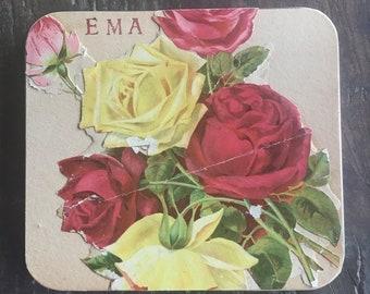 EMA Watercolor Tins With Antique Ephemera