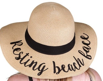 Resting beach face hat  9ff460b1b4e