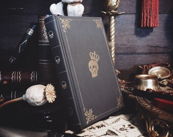 Pocket-size Customizable Leatherbound Journal or Grimoire - Mortis Rex