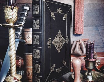 Customizable Leatherbound Journal or Grimoire - The Darkling's Vade Mecum