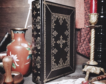 Customizable Leatherbound Journal or Grimoire - Secret Garden II