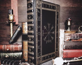 Customizable Leatherbound Journal or Grimoire - The Wayfinder
