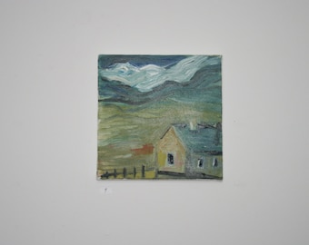 Oil on canvas of an Irish Cottage Landscape