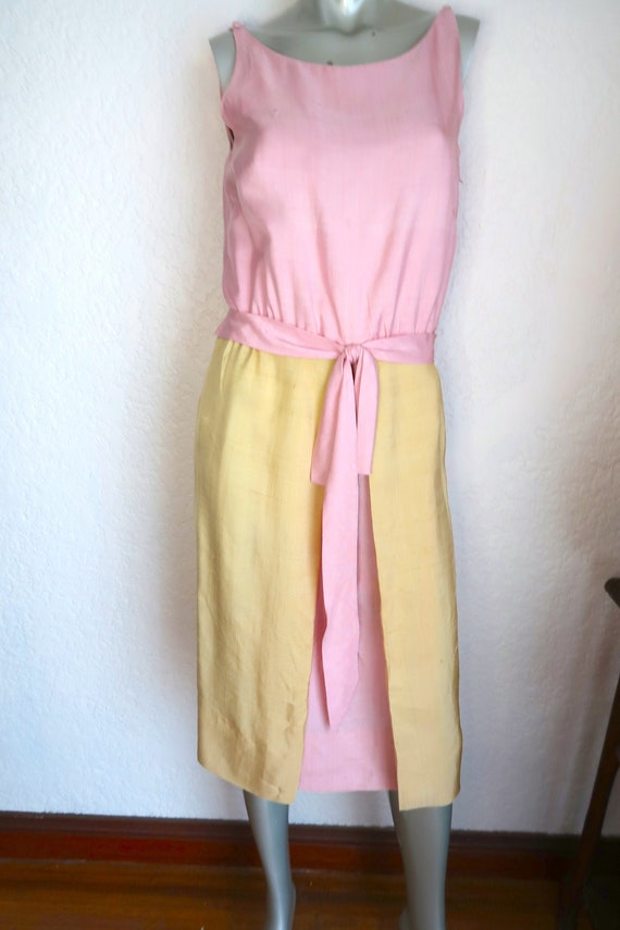 Vintage BH Wragge Shantung Silk Wiggle Dress Size