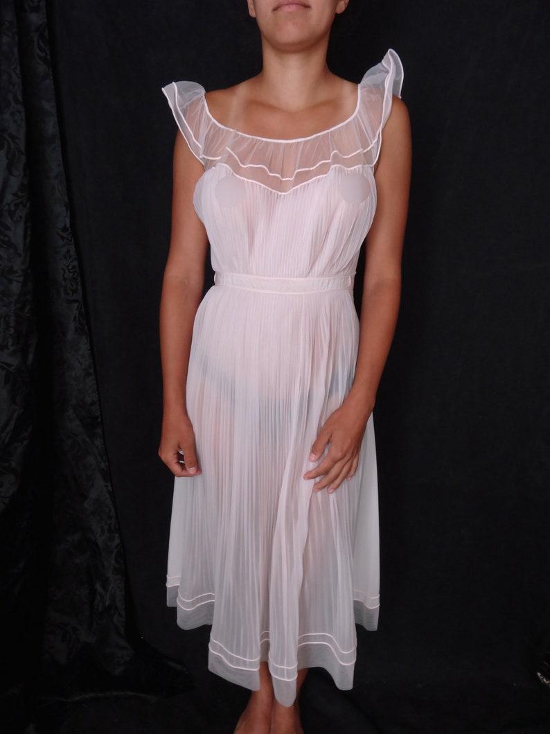Vintage Vanity Fair Nightgown Delicate Sheer Nightgown  529774af4