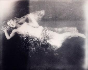 black and white polaroid print