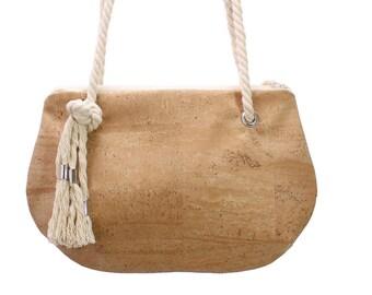 Clutch, vintage Bag, Cork fabrig bag, cork bag, handbag, small bag, shoulderbag bag for summer, nature materials, wooden bag, brown handbag,