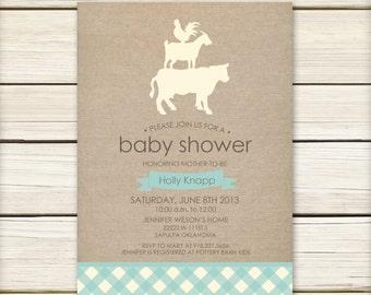Farm Baby Shower Etsy