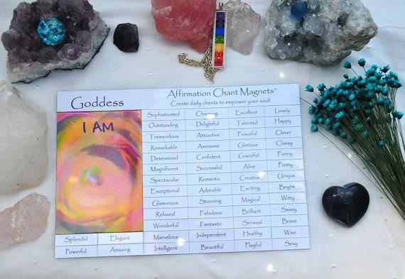 Goddess Affirmation Magnetic Fridge Poetry as seen on The Dog Whisperer - I  AM Empowerment Magnets for Building Self Esteem
