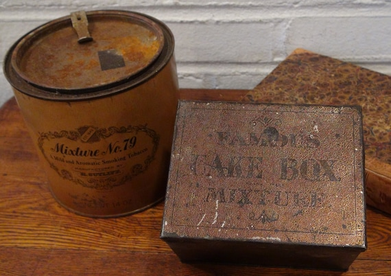 2 Vintage Tobacco Tins Harvard S Leavitt Amp Peirce H