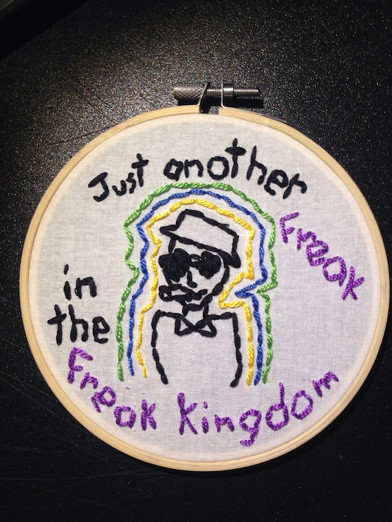 Fear And Loathing In Las Vegas Embroidered Quote Etsy