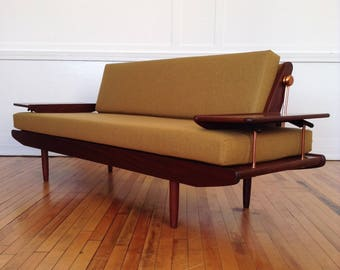 Midcentury British 1960u0027s Danish Style Sofa Bed By Toothill In Luxurious  Lambswool