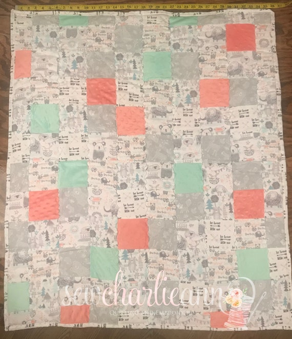 Be Brave Patchwork Quilt
