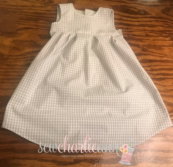 Little Girl's Dress Made from Daddy's Shirt