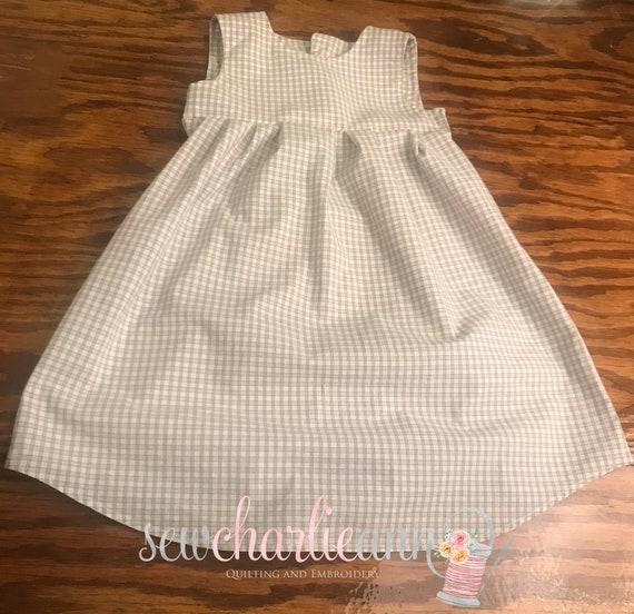 Custom Man's Dress Shirt into Little Girls Dress