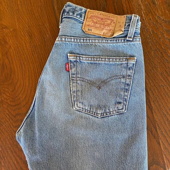 Vintage classic LEVIS 501 faded blue denim jeans W