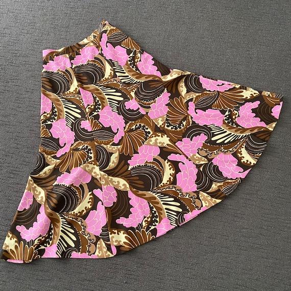 Details about  /Vintage NOS 1970s Pink /& Black Floral Print Button Up Smock Shirt Blouse Shirt L