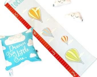 Personalized Hot Air Balloon Growth Chart; Height Chart, Travel Growth Chart, Children's Wall Art, Baby Gift, Newborn