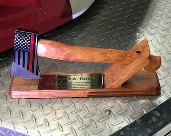 Thin red line axe  firefighter award.
