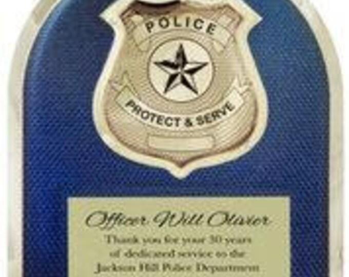 Police officer or Deputy award plaque 10 1/2 x 13