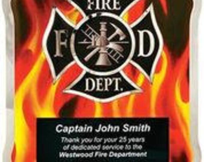 Firefighter award plaque 10 1/2 x 13