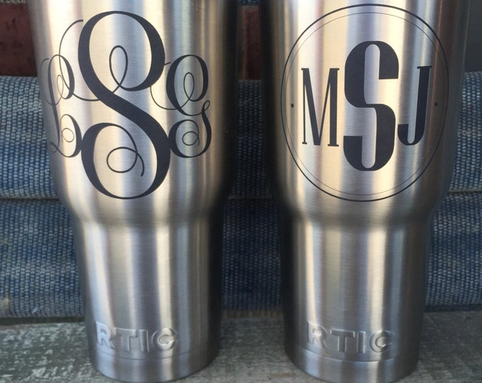 Laser Etched Personalized Only DOES NOT INCLUDE Powder coating- Yeti, Rtic, Ozark