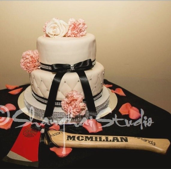 Firefighter Wedding Cake Cutting Axe Personalized With Wedding Etsy