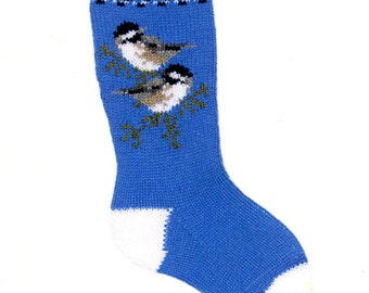 Customizable Chick-a-dee Christmas Stocking