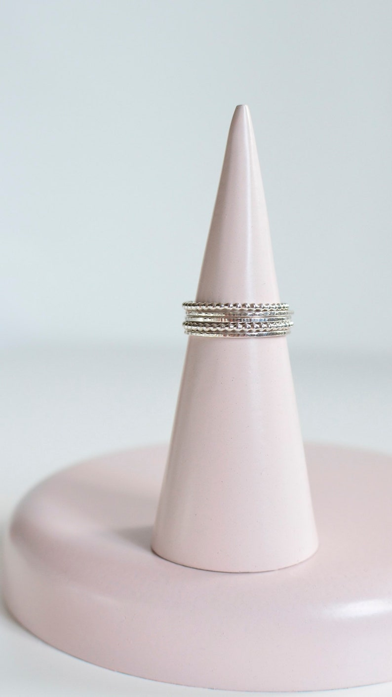 Stacking Silver Rings  Skinny and Perlisienne Rings  image 0