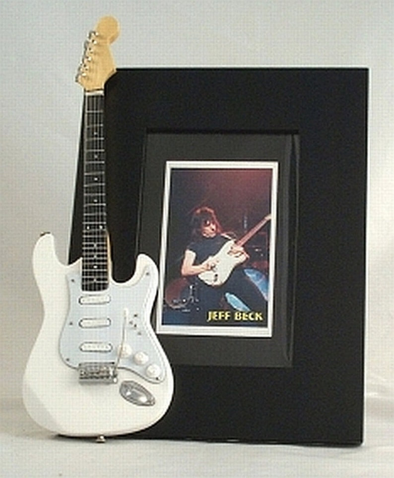 JEFF BECK Miniature Guitar Picture Photo Frame