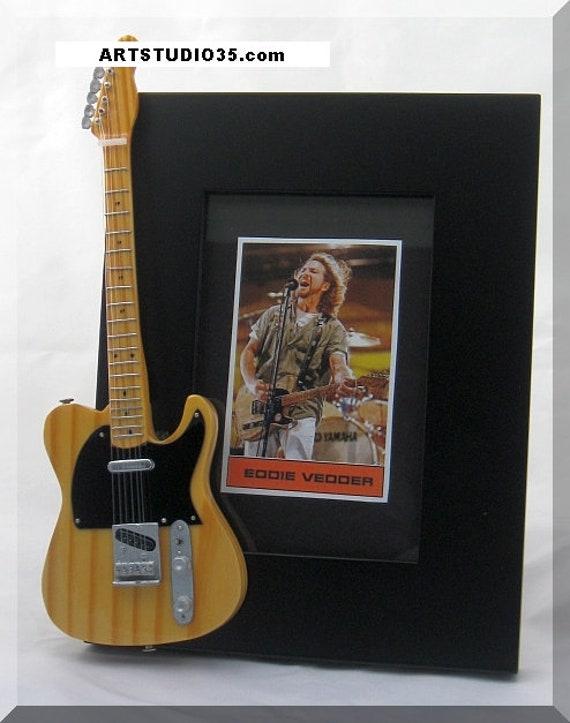 Eddie Vedder Miniature Guitar Photo Frame Pearl Jam Etsy