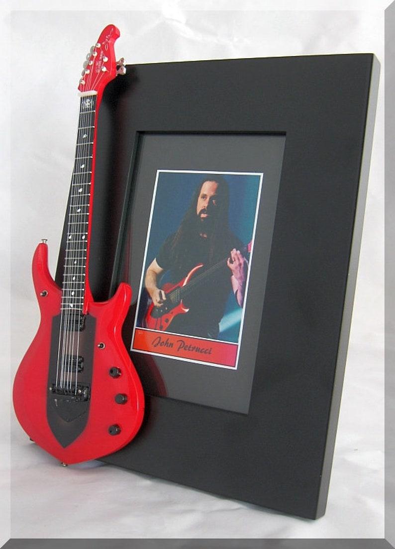 JOHN PETRUCCI  Miniature Guitar Photo Frame Dream Theater